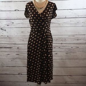 Dresses & Skirts - BROWN AND PINK POLKA DOT A LINED DRESS